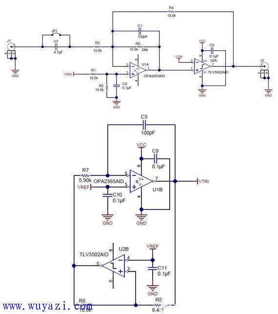 该电路主要是利用三角波发生器和比较器来生成脉宽调制 (pwm) 波形